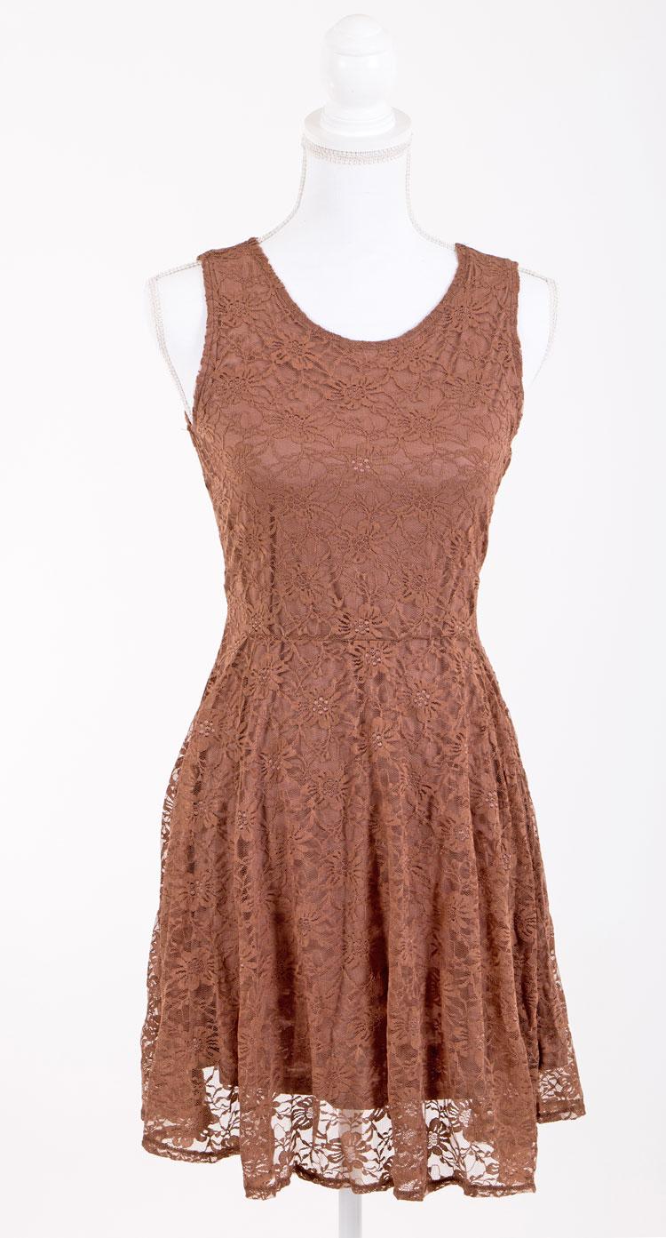 LACE DRESS AYLINChocolate Brown - Evy Alfrida